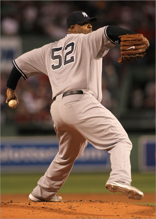 CC Sabathia started for the Yankees.