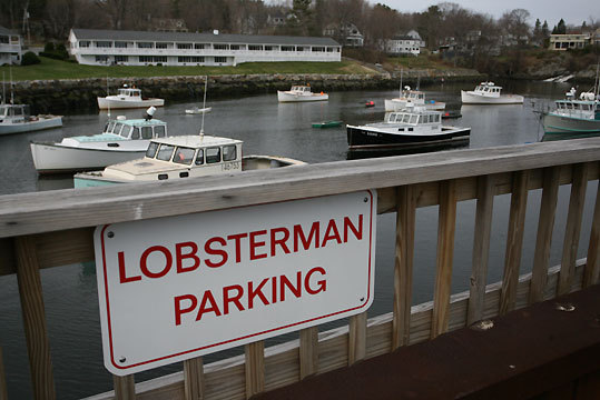 Reserved parking in Perkins Cove.