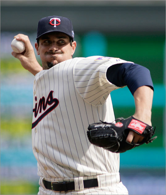 Carl Pavano started for the Twins Monday afternoon.