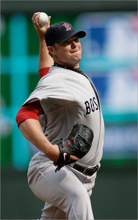 Jon Lester started for the Red Sox and struggled early, giving up two runs in the first inning.