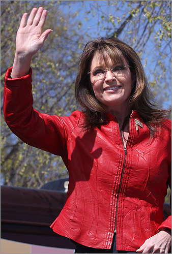 Thousands rallied Wednesday at a Tea Party movement event headlined by former Republican vice presidential candidate Sarah Palin (pictured), who took the stage shortly before 11 a.m. Click through this gallery for a look at scenes from the day. Palin waved to the crowd after her speech.
