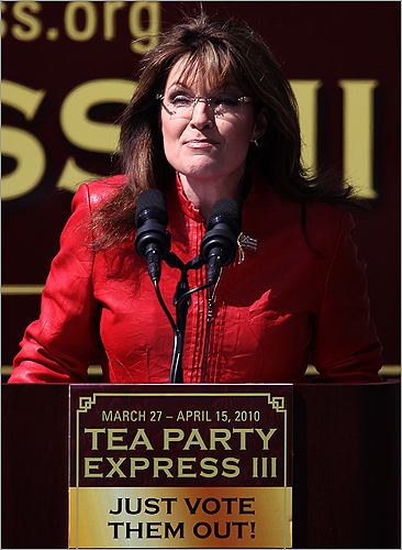 Palin addressed the crowd.