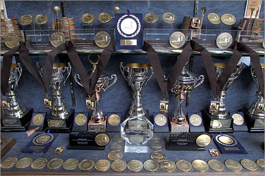Some of the medals and awards the beer company has won over the years are also on display at the brewery.