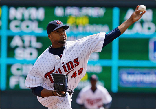 Minnesota Twins pitcher Francisco Liriano delivered a pitch during the third inning Thursday.