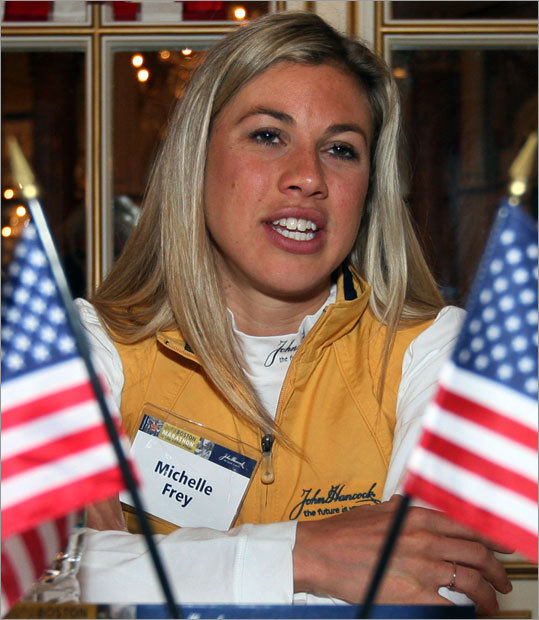 American Michelle Frey said she plans to start slow and not let her race strategy be affected by how other top women runners start the race.