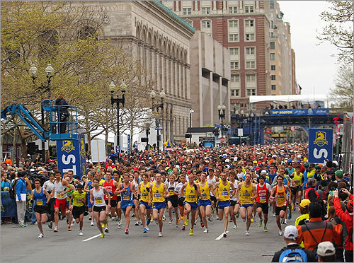 The 5K ended on Boylston Street, just like the marathon.