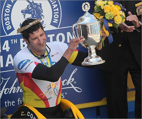 Van Dyk held up the trophy.