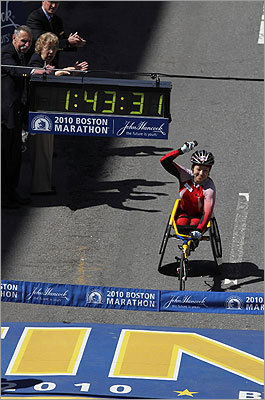 Tsuchida was the winner for the Women's Wheelchair division.
