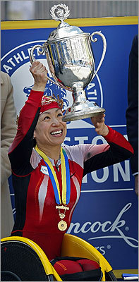 Tsuchida waved her trophy in the air.