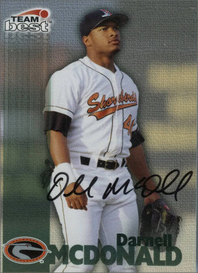McDonald was taken 26th overall by the Orioles in the first round of the 1997 draft. Darnell's family includes many professional athletes: his older brother, Donzell, played 15 games in the majors, his father, Donzell Sr., played for the Pirates organization, one of his uncles, Ben, played in the NBA for the Golden State Warriors, and a different uncle, James, played in the NFL with the Los Angeles Rams. In addition, McDonald played little league and high school baseball with former Boston catcher Josh Bard.