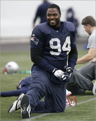 2003: Ty Warren The Patriots selected Texas A&M defensive end Ty Warren with the 13th overall pick, which they acquired by trading their its first and sixth-round picks (14 and 193 overall) to the Chicago Bears for the Bears' first-round pick. Warren is still with the team, although he missed the entire 2010 season following hip surgery. Warren has played in 105 regular-season games and recorded 20.5 sacks for the Patriots.