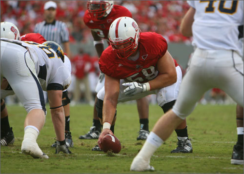 Larsen made the switch from defensive tackle to center before his junior year. He only gave up one sack during his senior season on 789 snaps. His coaches at NC State loved his defensive mindset and aggressiveness. His best game was against Maryland last year. Offensive line coach Don Horton gave him a 90% grade for the game, which according to a NC State team official, is a rarity. <!-- // define variables var date = new Date(); var current_time = date.getTime(); // write SCRIPT tag to browser document.writeln(' '); // -->
