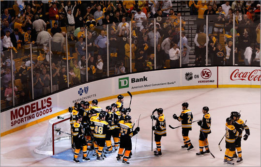 The Bruins take a 2-0 lead in the series into Wednesday's Game 3 in Philadelphia.