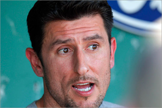 Former Red Sox shortstop Nomar Garciapara made a round of interviews at Fenway Park before the team honored him for his years with the team May 5, 2010.