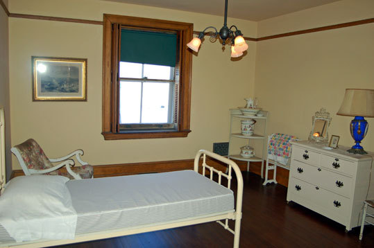 One of the 13 staff bedrooms on the third floor of The Elms. The head butler or chef would have his own bedroom.