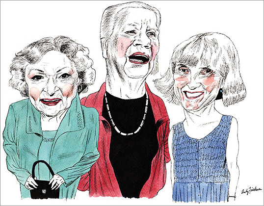 From left, Betty White, Jean Hill, and Peggy Brace.