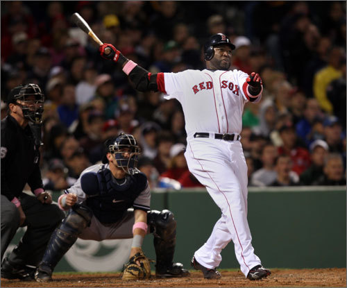 The resurgence continued for David Ortiz, as he bolstered the offense with an RBI double in the third inning.
