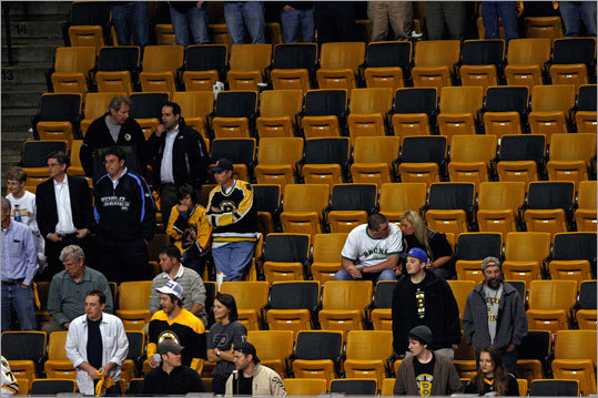 Most fans couldn't bear to watch late in the third period at TD Garden, where the Bruins were whipped by the Flyers in Game 5 of their playoff series.