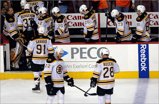 The Bruins missed out on their third straight chance to eliminate the Flyers from the NHL playoffs, and instead found themselves dejected after losing 2-1 Wednesday in Philadelphia. The Bruins and Flyers will play a winner-take-all Game 7 on Friday.