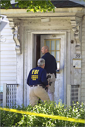 Last May, Khan was arrested along with his cousin Pir Khan, of Watertown, and Mohammad Shafiq Rahman, of South Portland, Maine. Government officials believed the men gave money to the would-be Times Square bomber. The men were arrested on immigration charges, not criminal charges. Members of the FBI's Evidence Response Team entered the Watertown home.