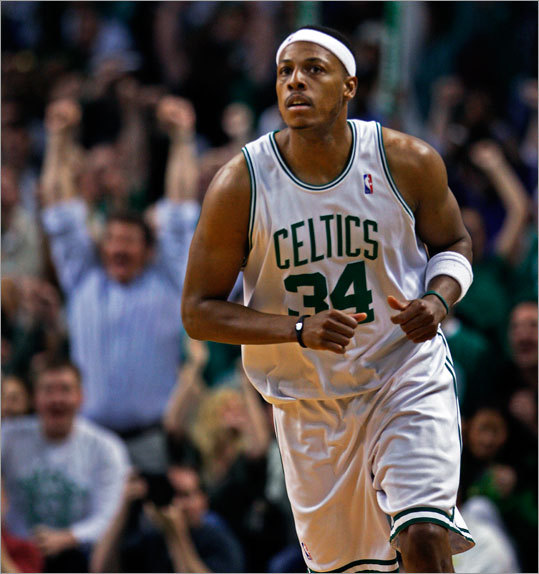 Paul Pierce had 13 points and was 3-for-5 on 3-point attempts to help the Celtics defeat the Cavaliers.