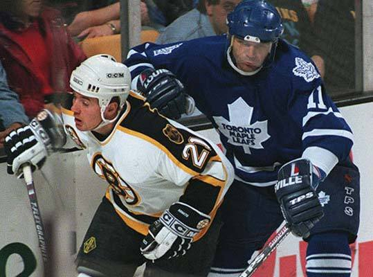 April 29, 1994: Bruins 5, Canadiens 3 Ted Donato (at right in 1995 vs. the Maple Leafs) had a goal and an assist to help the Bruins clinch the first-round series. The teams were tied, 2-2, after four games, and the Bruins faced elimination in Game 6 after Montreal won the fifth game to take a 3-2 series lead. But the Bruins won Game 6 by a 3-2 score. The Bruins lost in the next round of the playoffs to the Devils.