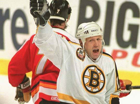 May 1, 1992: Bruins 3, Sabres 2 Dave Reid (pictured in 1996 vs. Calgary) scored the winning goal for the Bruins in the division semifinal series. The Bruins had a 3-1 lead in the series before the Sabres won the next two, 2-0 and 9-3. The Sabres outshot the Bruins, 29-22, in Game 7, but goalie Andy Moog was up to the challenge.