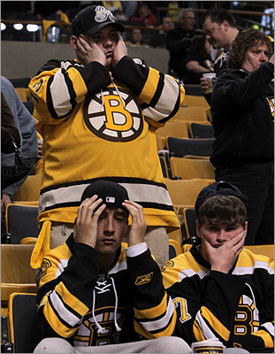 May 15, 2010: Bruins blow 3-0 series lead Boston fans were stunned when Game 7 of the conference semifinals against the Flyers ended with the Bruins completing a historic collapse, losing 3-0 leads in both the game and the series, losing both 4-3. The Bruins became only the fourth pro sports team to lose a seven-game series after leading 3-0.