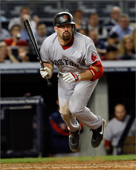 Red Sox first baseman Kevin Youkilis had to leap to avoid a pitch from Yankees starting pitcher Phil Hughes in the fifth inning.
