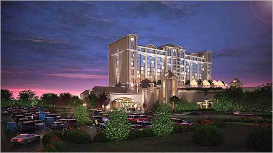 The town of Milford is in the mix for a proposed Las Vegas-style resort casino near Interstate 495. A developer has outlined plans for the Crossroads Casino, a $600 million complex with up to 3,000 slot machines, five restaurants, and a 300-room hotel. See more photos of the Crossroads Casino