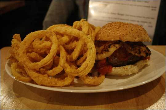 Elena Kagan Burger Last year, Bartley's named a burger after Elena Kagan, the former Harvard Law School dean who is now on the US Supreme Court. Owner Bill Bartley said: 'There's a liberal amount of salsa with grilled pineapple and it comes with our onion rings. I put the grilled pineapple on there because Obama is from Hawaii, and she's in Obama's back pocket so I thought that was perfect.'