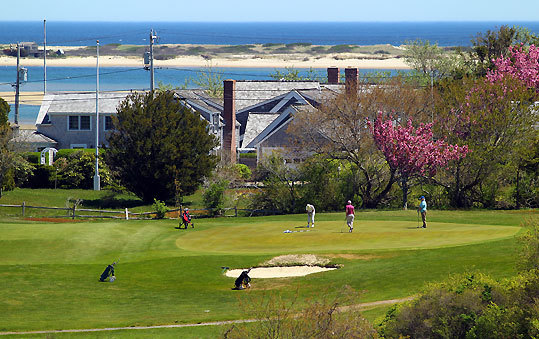 The Seaside course, which was carved out in 1895 as part of the Chatham Bars Inn but now is owned by the town, is treacherously seductive because it appears easy. It's a par-34 with only one hole longer than 280 yards, but most of them can sabotage you, especially on a windy day. The sixth green offers a view of Chatham's sandbar.