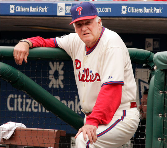 Phillies manager Charlie Manual could only look on as the Red Sox took two of three games in Philadelphia this weekend.
