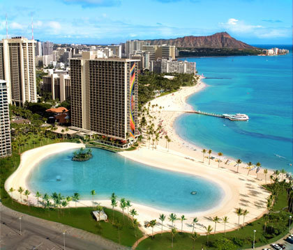 6. Kahanamoku Beach Waikiki, Oahu, Hawaii Dr. Beach says: 'A shallow offshore reef protects this beach from the big waves, making it a great swimming area for families with children.'
