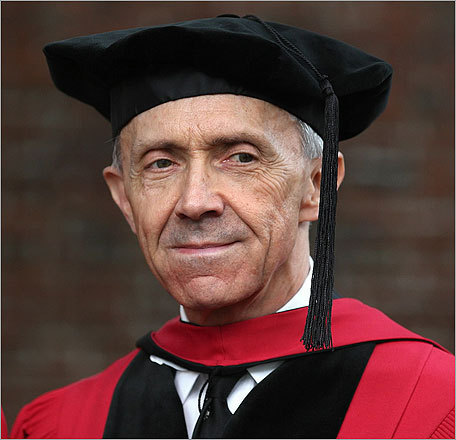 Former US Supreme Court Justice David Souter addressed graduates at the commencement ceremony. Souter, who is from New Hampshire, is a 1961 graduate of the college and a 1966 graduate of the law school. Read more about Souter's speech See more notable graduation speakers