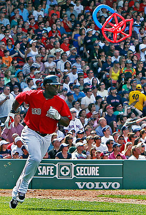 Not even a stray balloon could stop the Sox or Mike Cameron, whose two-run double high off the wall made the score 7-1.