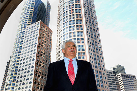 During his colorful career, 64-year-old developer Donald J. Chiofaro has built a lot of buildings - and gotten into his fare share of public disputes over projects. He has recently been at odds with Boston mayor Thomas M. Menino over attempts to get approval to build two towers on the waterfront. Chiofaro today unveiled the latest revision to his plans - a pair of angular towers reaching 470 feet and 615 feet, respectively. Read on for more about the plans - past and present - and the unique ways Chiofaro has tried to attract support for his projects.