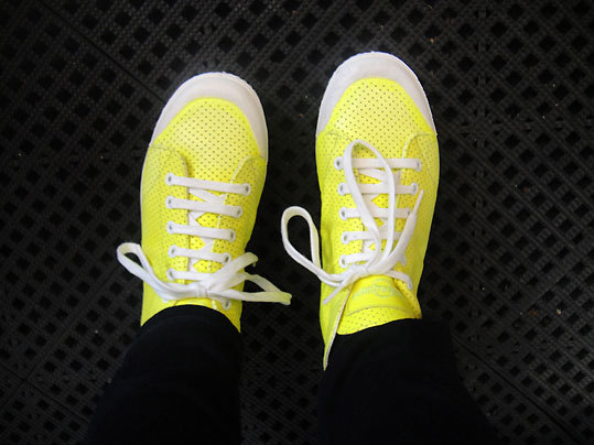 The highlighter yellow Spring Court sneakers that almost broke the bank at the boutique Map.