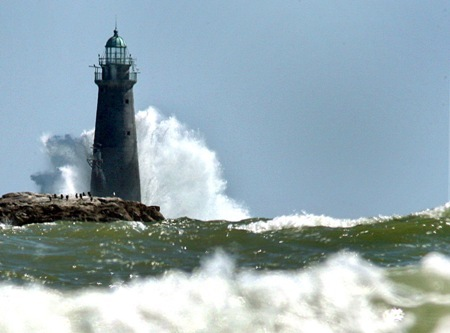Take a look at photos of other lighthouses in the South Shore. At left: 150 years ago, workers completed the painstaking construction of Minot's Ledge Light off the coast of Cohasset and Scituate. It still stands stoically today, a lonely monument surrounded by seawater, warning mariners of the hidden rocky ledge that caused so many shipwrecks long ago.