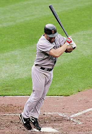 Kevin Youkilis reacted after popping up against relief pitcher Jason Berken with the bases loaded and two out in the seventh inning, keeping the score tied at 2.