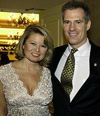 Gail Huff and her husband, Senator Scott Brown.