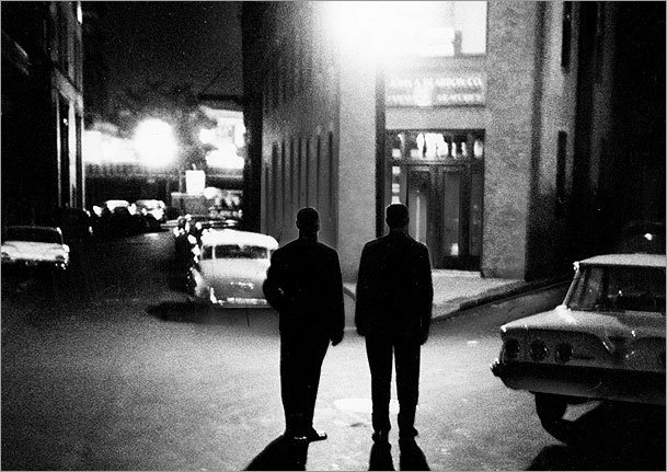 In this Sept. 3, 1962, file photo, Boston police detectives worked through the night trying to solve the Strangler case.