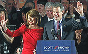 Gail Huff and Senator Scott Brown