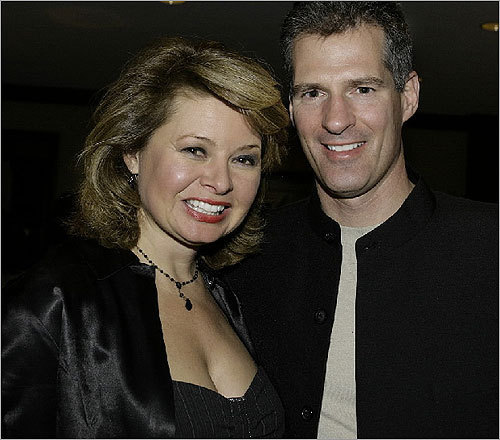 Gail Huff Longtime WCVB-TV reporter Gail Huff left the station in 2010 after 17 years. Huff is the wife of US Senator Scott Brown. Huff has taken a part-time reporter position in Washington, D.C., and plans to spend more time with her family. Pictured, Brown and Huff in 2007 at the 18th Annual Boston Wine Festival held at the Boston Harbor Hotel.