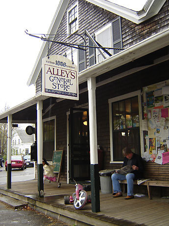Martha's Vineyard offers plenty of shopping when the beach doesn't beckon, like Alley's General Store in West Tisbury.