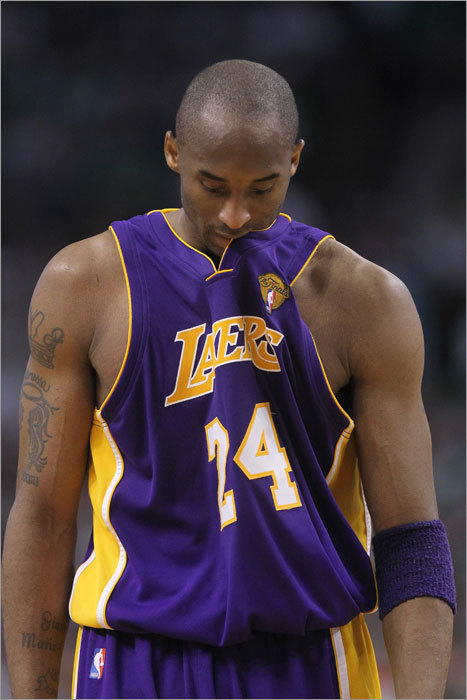 Lakers guard Kobe Bryant scored 33 points, but couldn't hide his disappointment in the fourth quarter as it became evident the Lakers would lose Game 4.