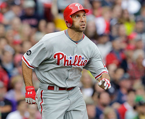 Raul Ibanez struck the big blow in the four-run, fourth-inning rally. His two-run home run gave the Phillies a 2-1 lead.