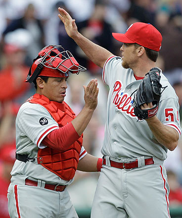 Phillies closer Brad Lidge, who came off the disabled list last week, put the finishing touches on the Phillies' victory over the Sox.