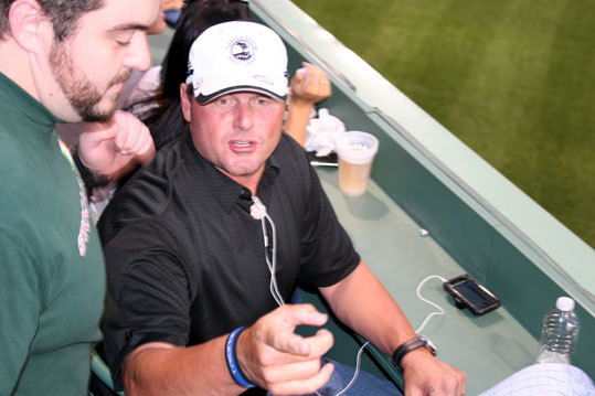 Old friend Roger Clemens was at Fenway to take in Manny's return to Boston. The Rocket watched the game from the Monster seats and signed autographs and took pictures with fans between innings.