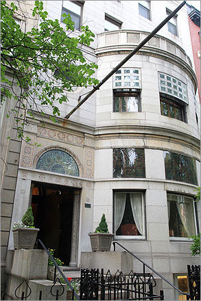 The Ayer mansion sits in a nook on Commonwealth Avenue, near Massachusetts Avenue. It is believed to be the only surviving residential property designed entirely by Louis Comfort Tiffany, the Art Nouveau titan.